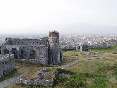 Shkodra: View over the town from the marvellous Rozafa fortress
