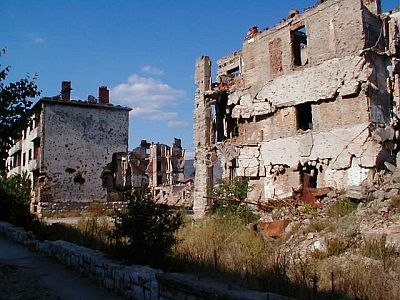 A country in ruins: frontline in Mostar