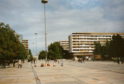 The city centre of Dobrich: Something for concrete fans
