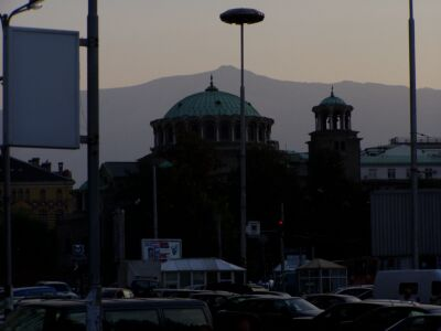 Sofia: Church of St Nedelya in the evening