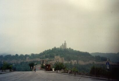 Veliko Tarnovo: View of Tsarevets hill at lousy weather...