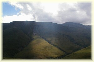 Light and shade in the Caucasus near Kazbegi