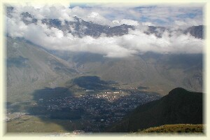 Kazbegi in the heart of the Caucasus