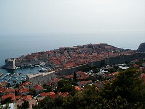 A bird's view of the entire old town of Dubrovnik