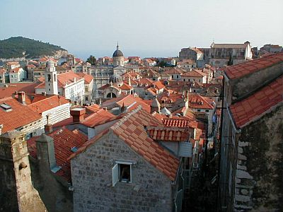 Dubrovnik: There's not much space between the houses...