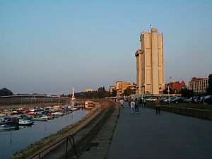 Osijek: The centre of town on the right bank of the river Drava