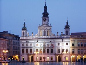 The beautiful baroque city hall