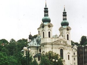 The baroque Maria Magdalena church