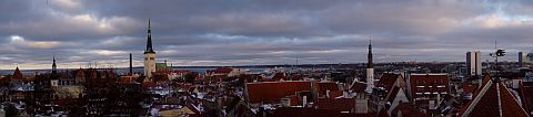 Panorama of Tallinn's old city centre I