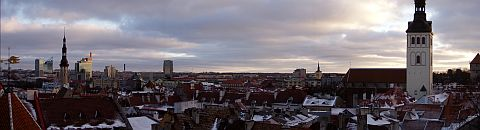 Panorama of Tallinn's old city centre II