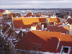 Tallinn: View towards the harbour