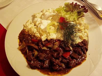 Typical Hungarian meal