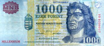 Hungarian Money: 1000 Forint bill