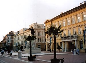 Pedestrian zone in Szeged
