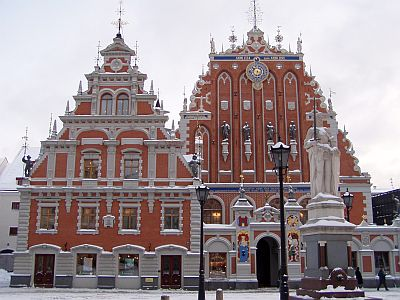 Riga: Typical Hanseatic league architecture: The Guild House of Blackheads