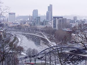 The modern Vilnius north of the river Neris