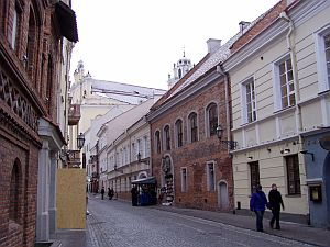 Inside the old town of Vilnius