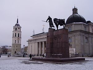 Vilnius: Cathedral and bell tower