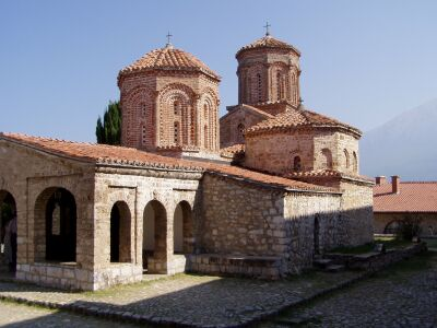 Near Ohrid: The church inside Sveti Naum monastery