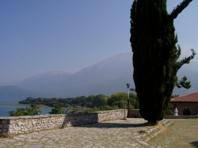Near Ohrid: A view from Sveti Naum to the Galicica mountains