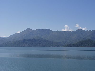 Bar: Lake Shkodra and the green Rumija mountains