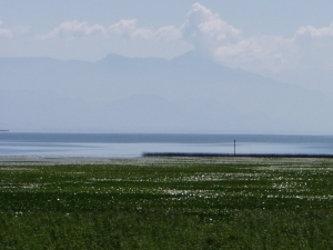 Lake Shkoder - surrounded by mountains