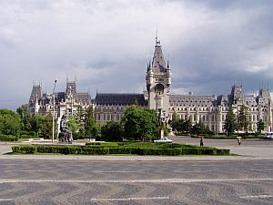 The huge Palace of Culture in Iasi