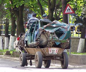 Means of transport in Romania...