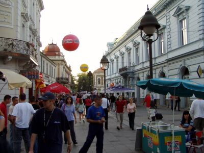 Belgrade: pedestrian zone in the town centre