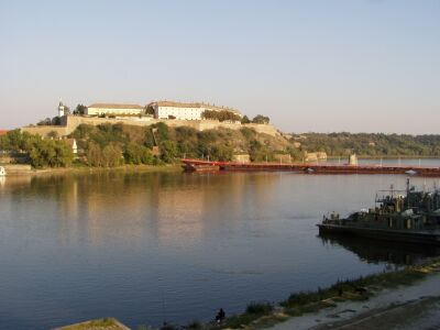 Novi Sad: Petrovaradin-Citadel at the right bank of the Danube