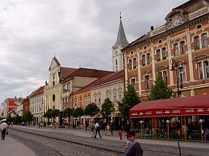 The centre of Kosice at the Hlavná (main street)