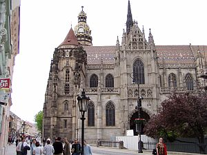Kosice: Cathedral and tower as seen from Freedom Square