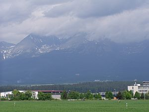 The High Tatra - as seen from the south near Poprad