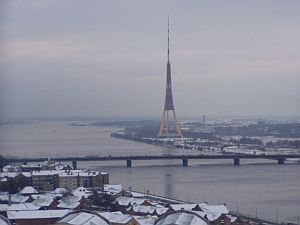 The unusual TV tower of Riga