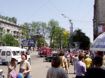 Dnepropetrovsk: The Karl-Marx (!) boulevard, the lively shopping street
