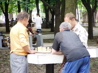Dnepropetrovsk: Fancy a game of chess in the park?